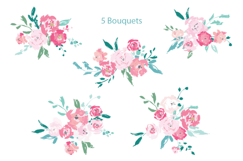 vector-floral-clipart-separate-elements-wreaths-and-bouquets