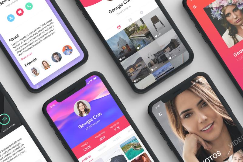 profile-mobile-ui-concept