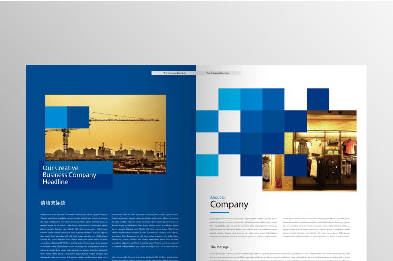 professional-blue-company-culture-display-brochure