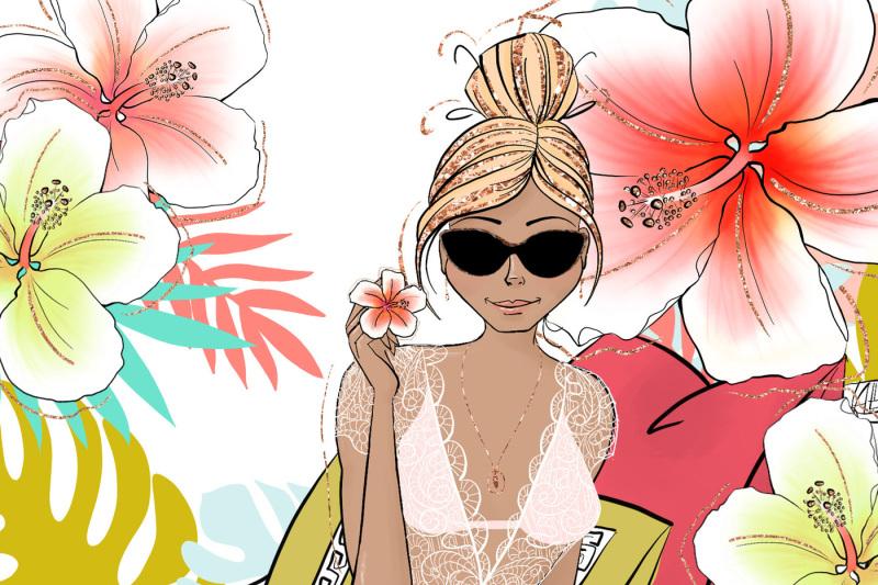 tropical-summer-girls-clip-art
