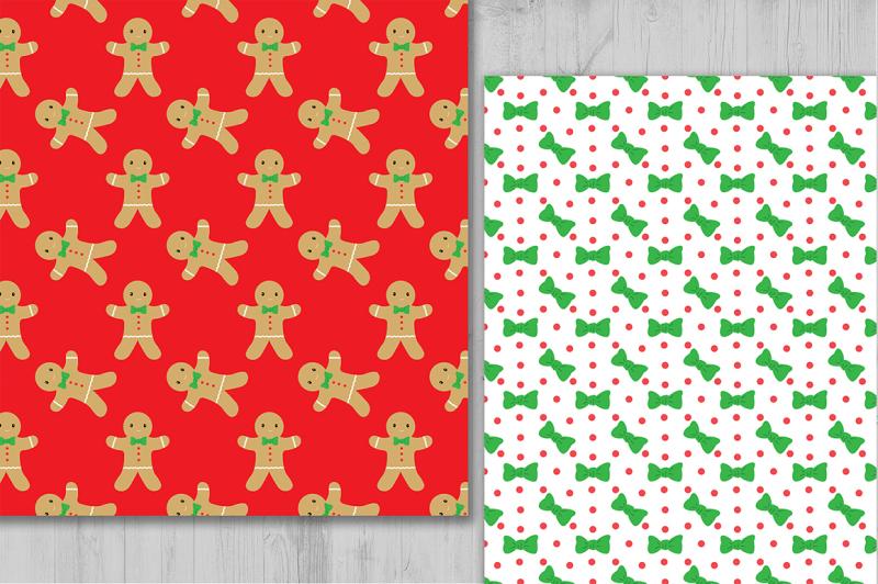 gingerbread-digital-paper-christmas-digital-paper-holiday-background