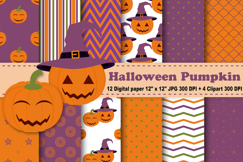 halloween-digital-paper-halloween-pumpkin-digital-paper-pumpkin