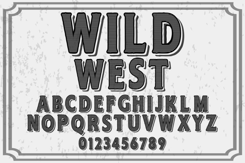 vintage-handcrafted-vector-label-design-typeface-wild-west