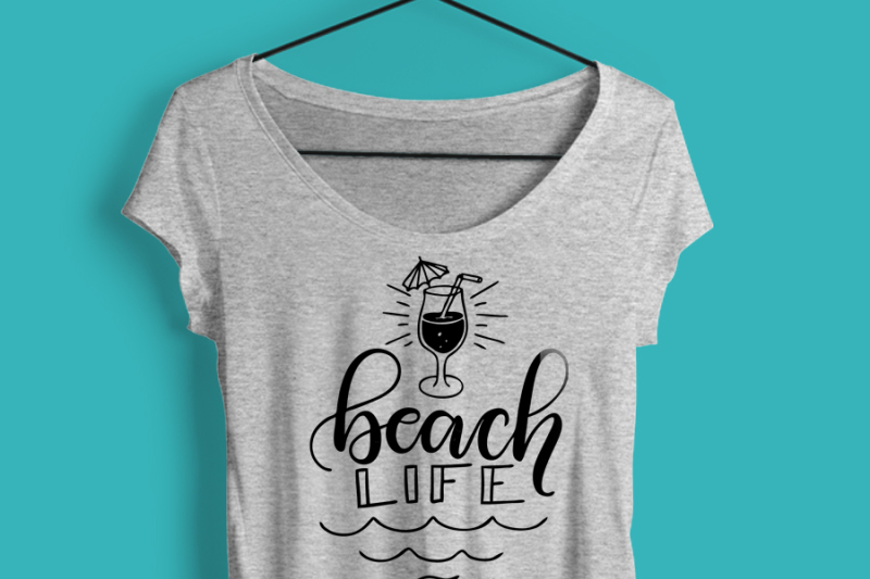beach-life-summertime-hand-drawn-lettered-cut-file