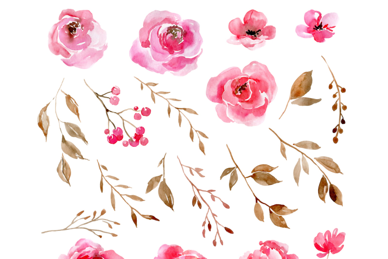 romantic-watercolor-pink-flowers-png