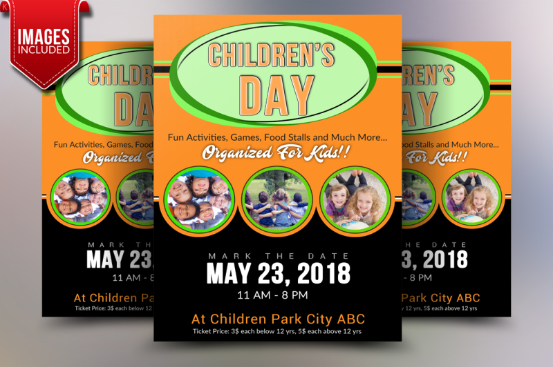 children-s-day-flyer-template