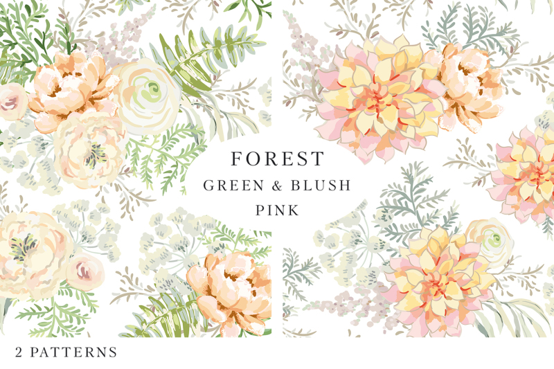 forest-green-and-blush-pink