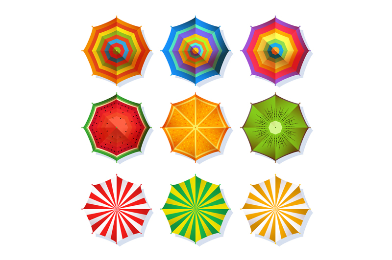 top-view-picture-of-summer-beach-umbrella-for-relaxation