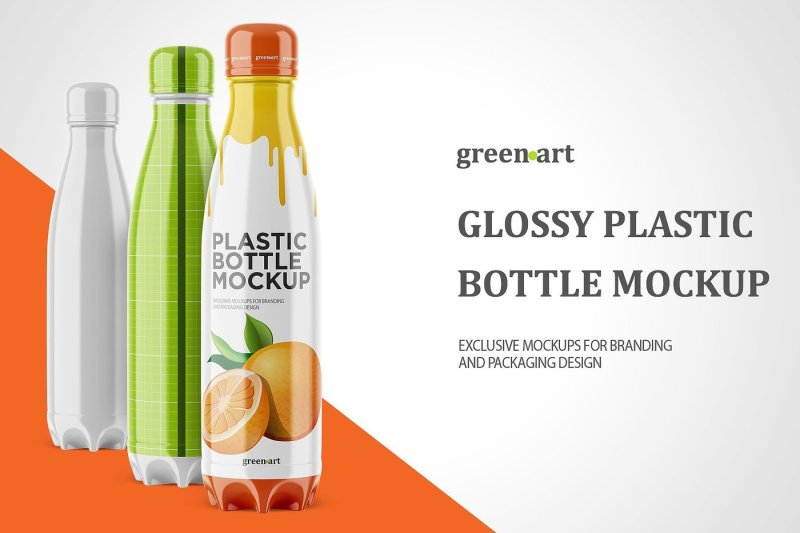 Download Glossy Plastic Bottle With Red Drink Mockup Yellowimages