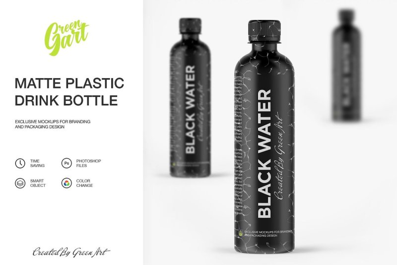 Download Plastic Bottle With Matte Finish Mockup Yellowimages