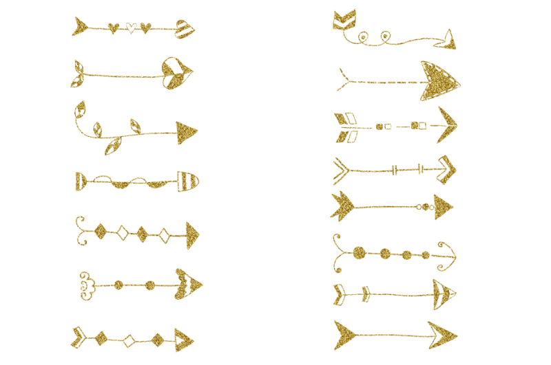 gold-glitter-arrows-clipart-set-golden-doodle-arrow-wedding-clip-art
