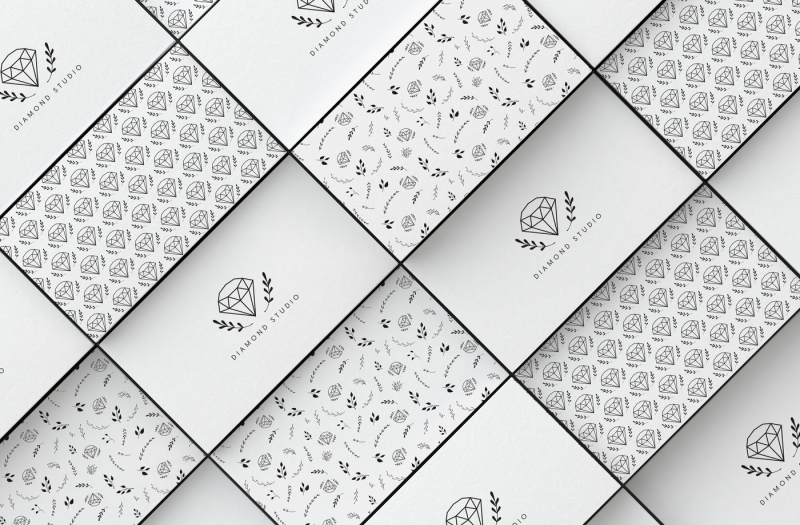 2-diamonds-business-card-templates