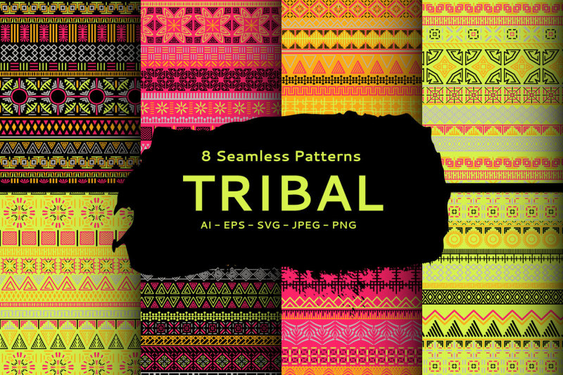 tribal-vector-seamless-patterns