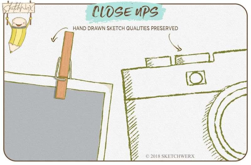 hand-drawn-photographers-set