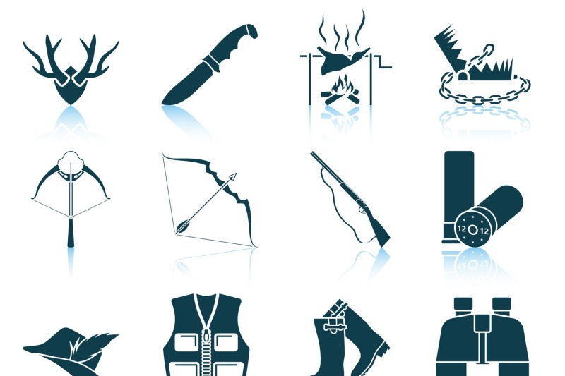 set-of-hunting-icons