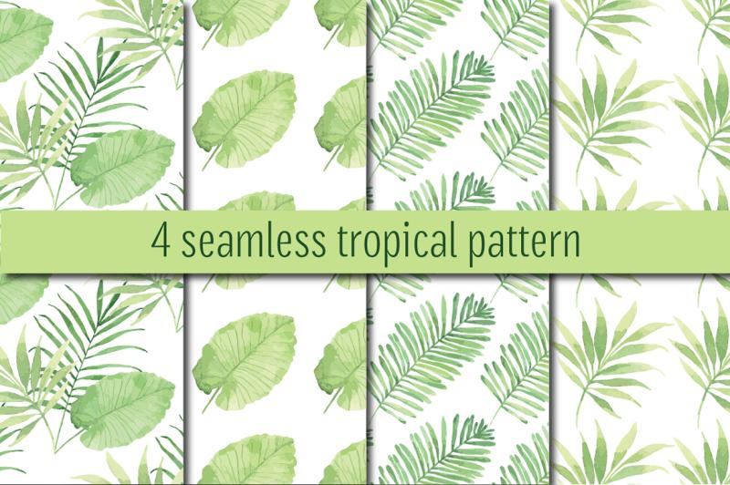 tropical-watercolor-set