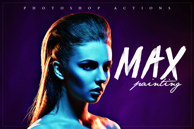max-painting-photoshop-action