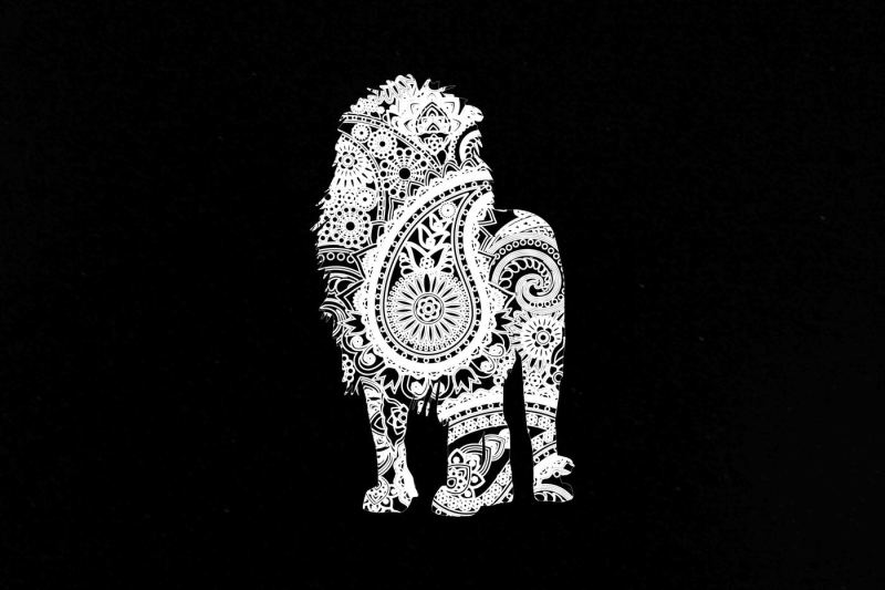 Download Mandala White Lion SVG DXF PNG EPS By twelvepapers ...