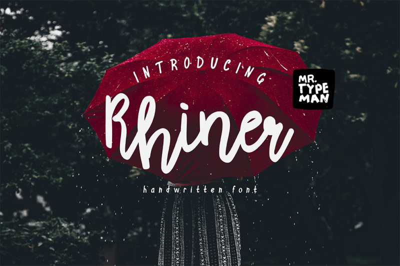 rhiner-handwritten-script