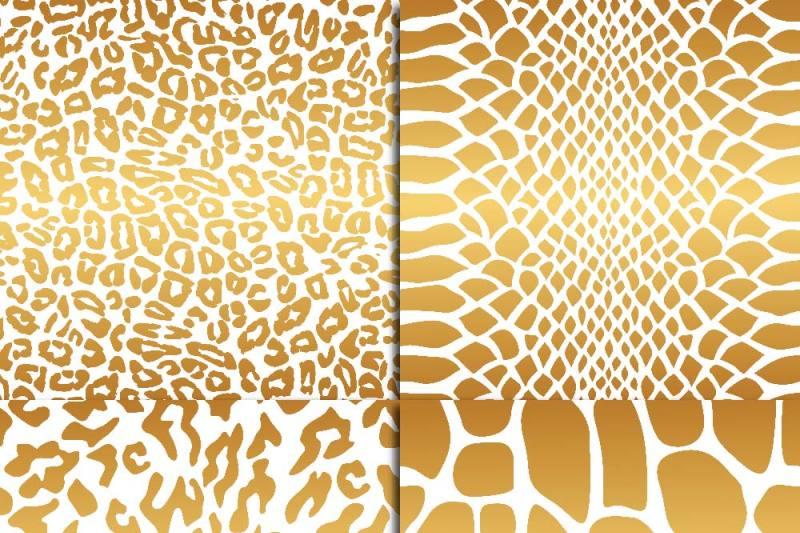 golden-animal-print-on-white-paper