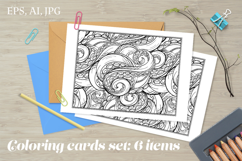 tangled-tentacles-coloring-cards-set