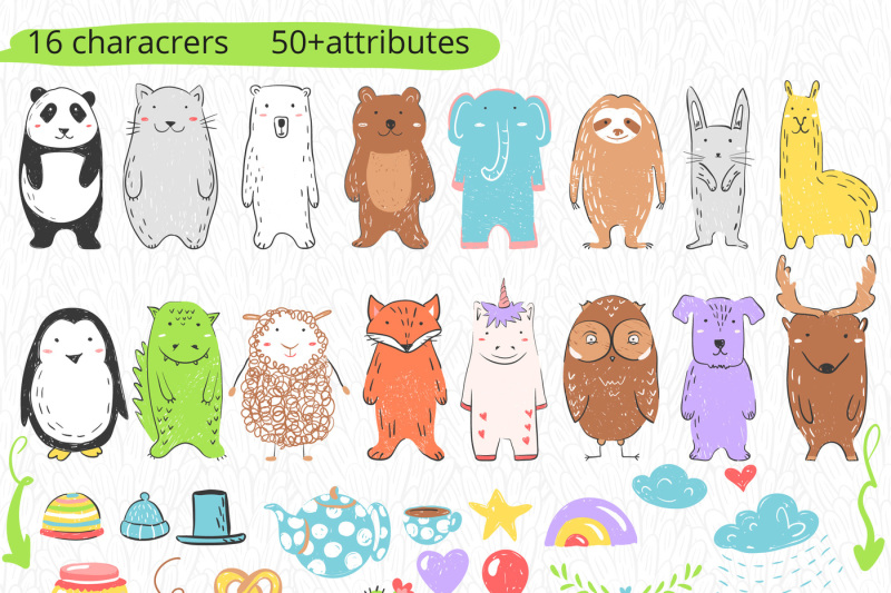 little-zoo-characters-and-patterns