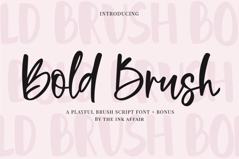 bold-brush-font-bonus-font