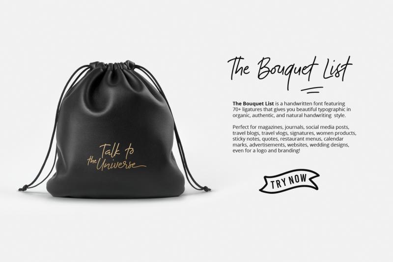 the-bouquet-list-handwritten-font-extras