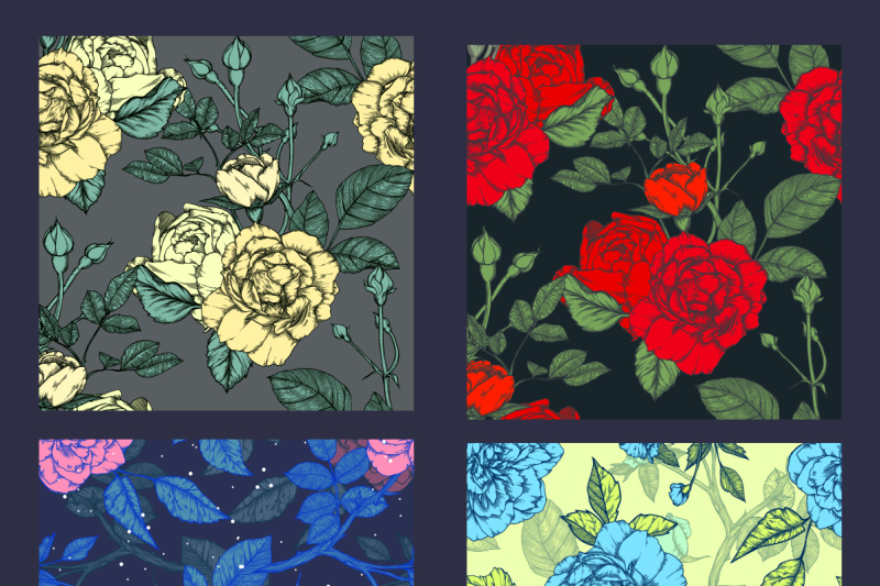 35-vintage-seamless-patterns-with-roses