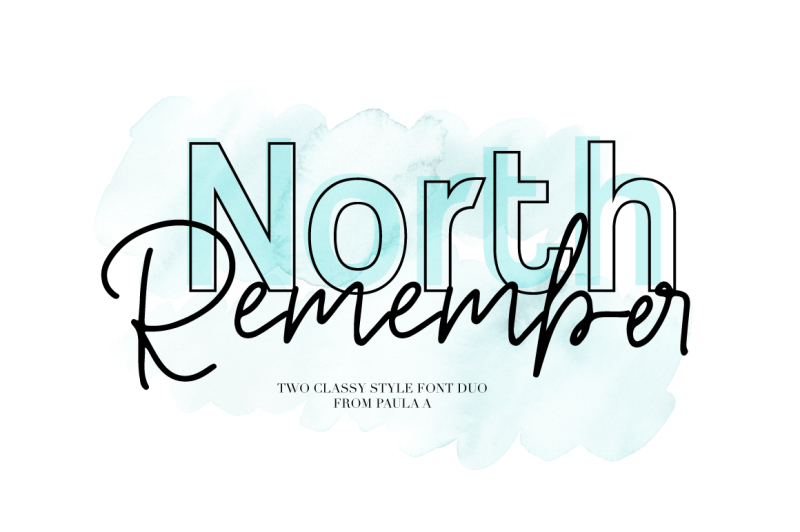 north-remember-font-duo