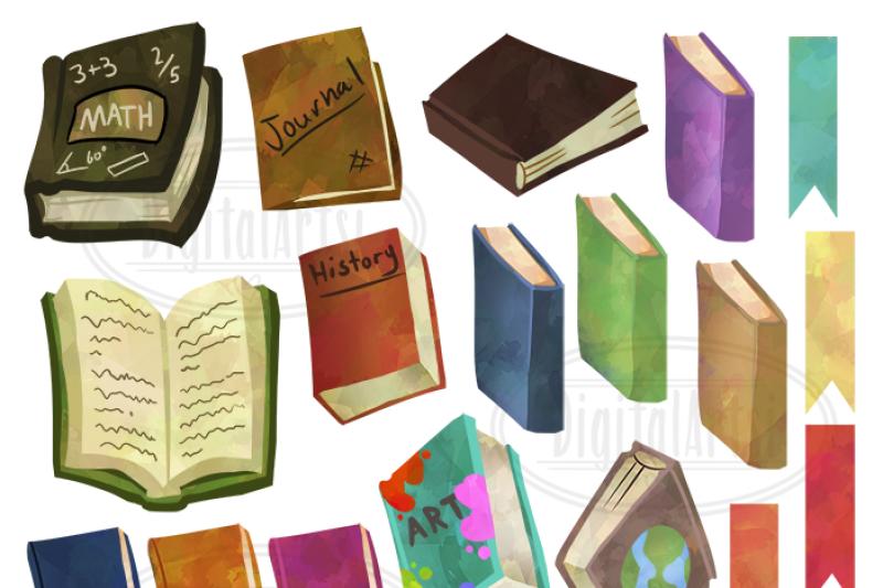watercolor-books-clipart