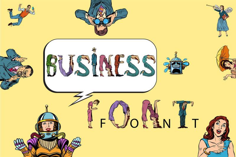 business-font-vector-pop-art
