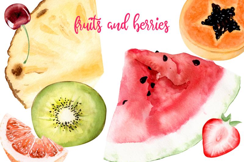 summer-heat-watercolor-set-clipart