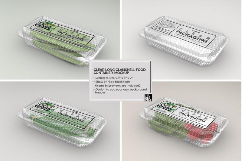 Download Plastic Tray With Green Beans Mockup Yellowimages