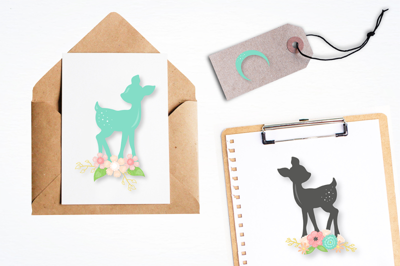 woodland-deer-graphics-illustrations