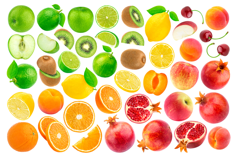 set-of-various-fruits-isolated-on-white-background
