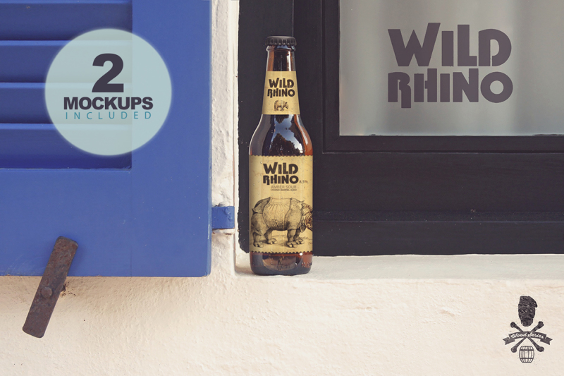 Free Formentera Window Duo | Beer Mockups (PSD Mockups)