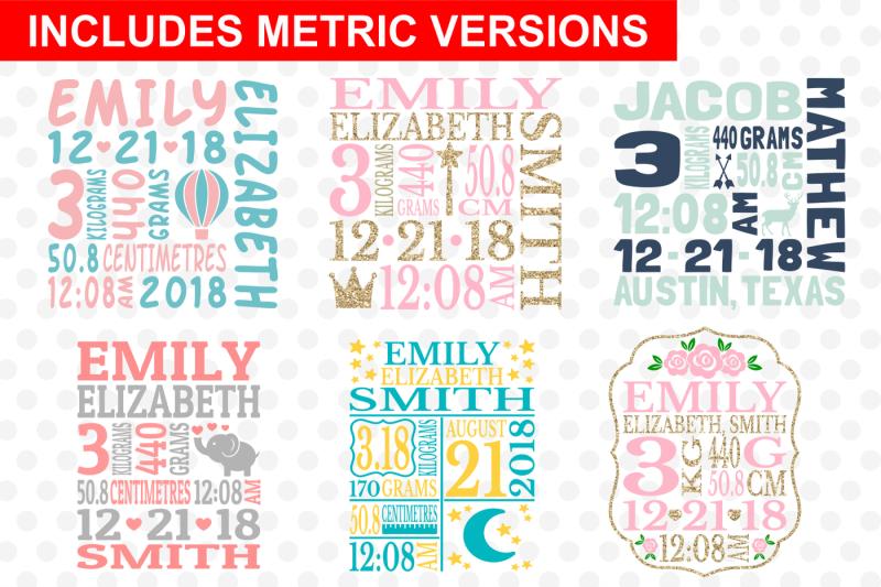 baby-birth-announcement-bundle-svg-cut-files