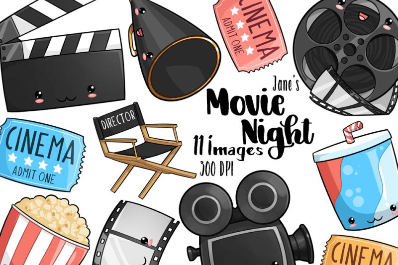 kawaii-movie-night-clipart