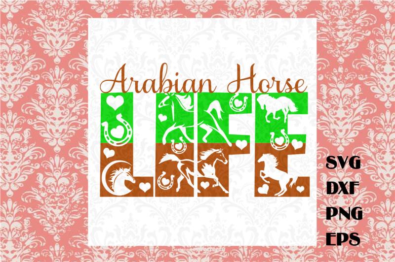 arabian-horse-life-svg