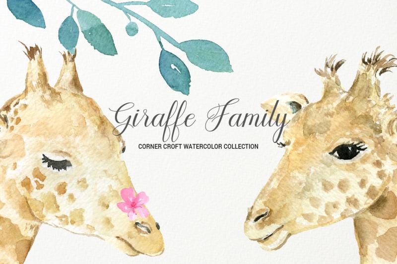 giraffe-clip-art-watercolor-giraffe-family