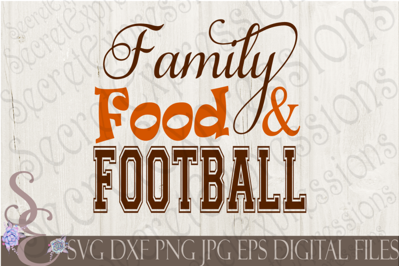 family-food-and-football-svg