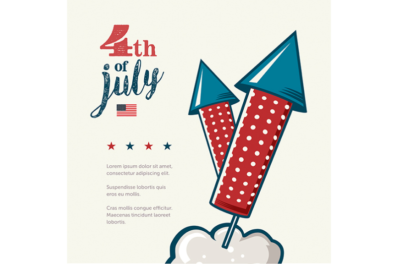 4th-of-july-poster-grunge-retro-metal-sign-with-fireworks