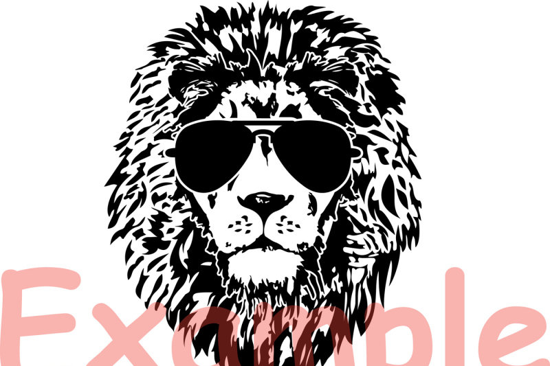lion-head-glasses-silhouette-svg-wild-animal-african-king-claw-854s