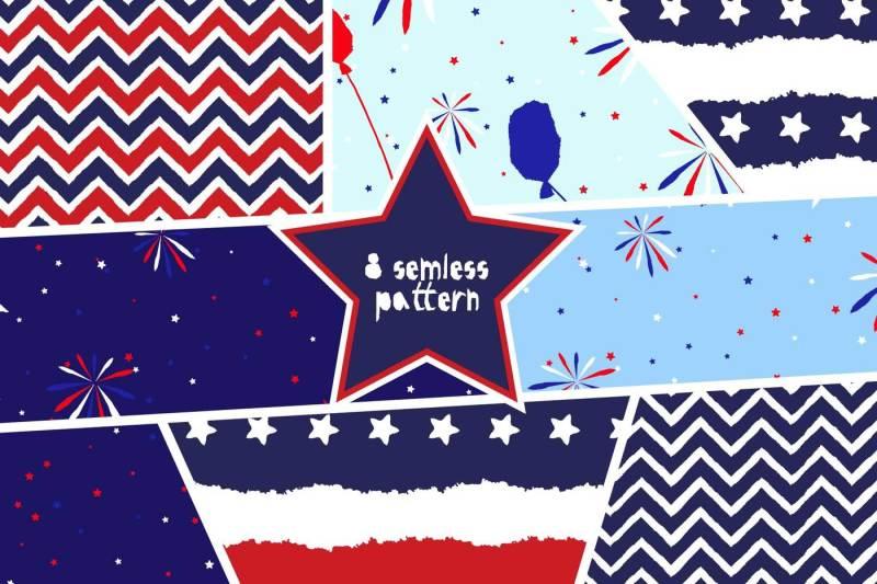 4th-july-grunge-pattern-pack