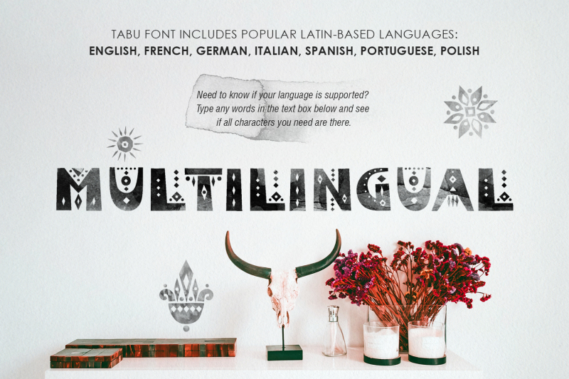 tabu-tribal-font-family