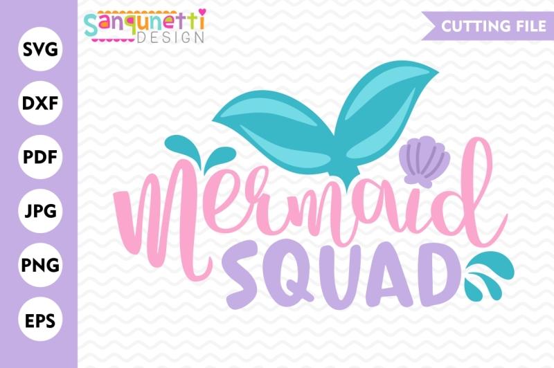mermaid-squad-svg-mermaid-svg-mermaid-lettering-mermaid-cut-file