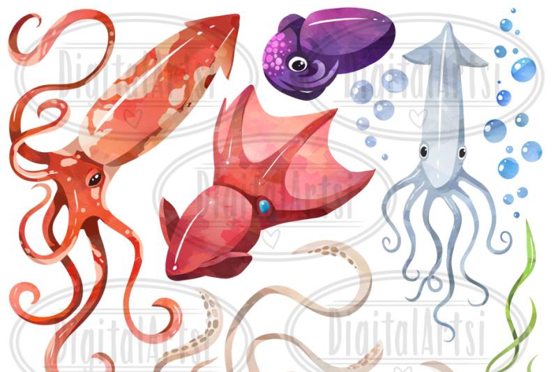 watercolor-squids-clipart