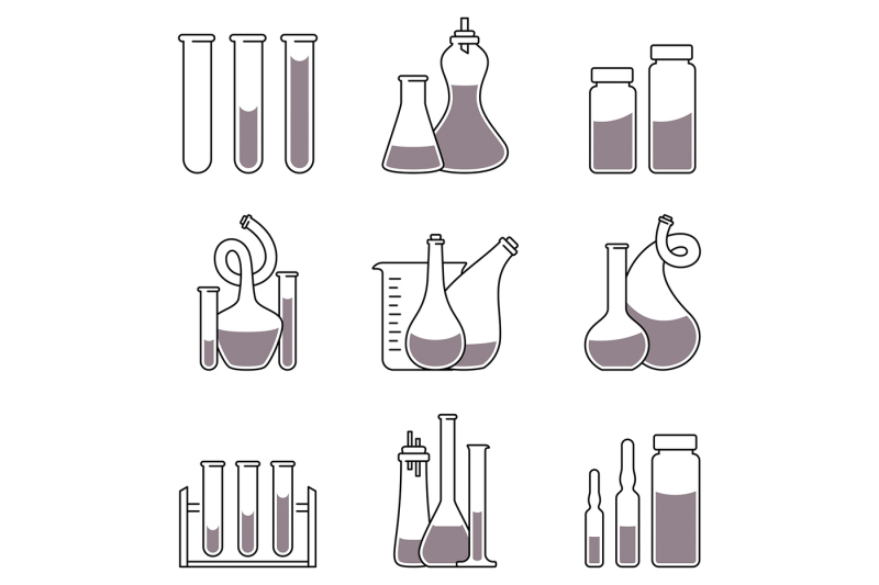 chemistry-icons-in-linear-style