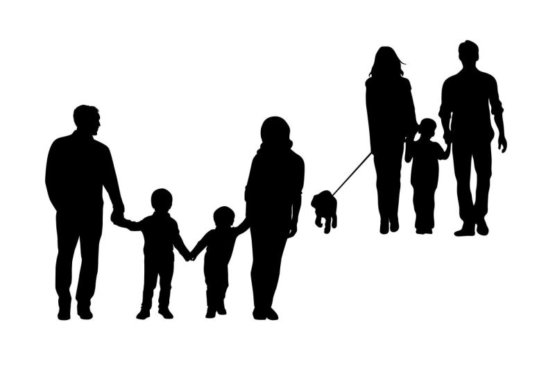 family-silhouettes-svg-dxf-png
